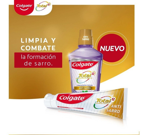 crema dental colgate total 12 anti sarro 140g