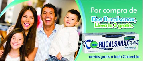crema dental sin fluor bucalsanax