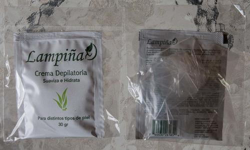 crema depilatoria lampiña con extractos x 12 docena por mayo