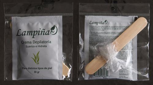 crema depilatoria lampiña suaviza hidrata adiós vello x12 u