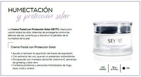 dca14e5ca85 Crema Facial Con Protector Solar Seytu - $ 750,00 en Mercado Libre