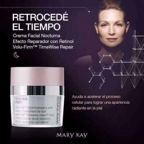 crema facial de noche efecto reparador con retinol timewise