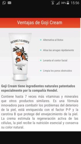 crema goji cream 100% original hendels garden envio gratis
