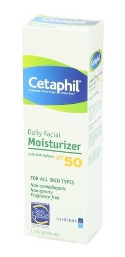 crema hidratante facial diaria cetaphil con protector solar,