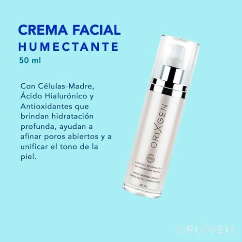 crema humectante antiarrugas - células madre orixgen