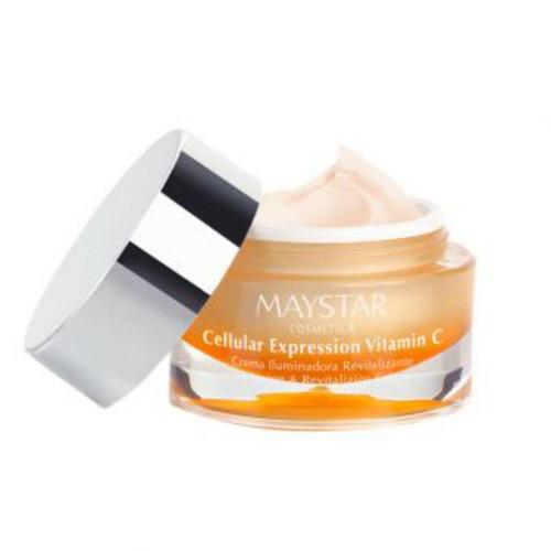 crema iluminadora revitalizante vitamina c 50 ml. maystar/m1