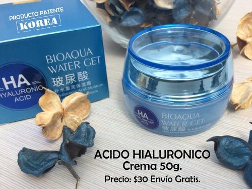 crema korea acido hialuronico colágeno arrugas hidratante