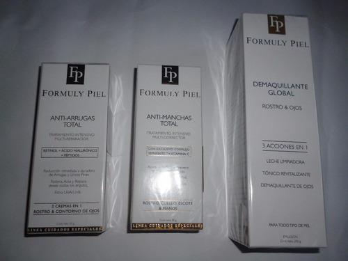 crema limpieza 3 en 1 rostro ojos tonico revit formuly piel