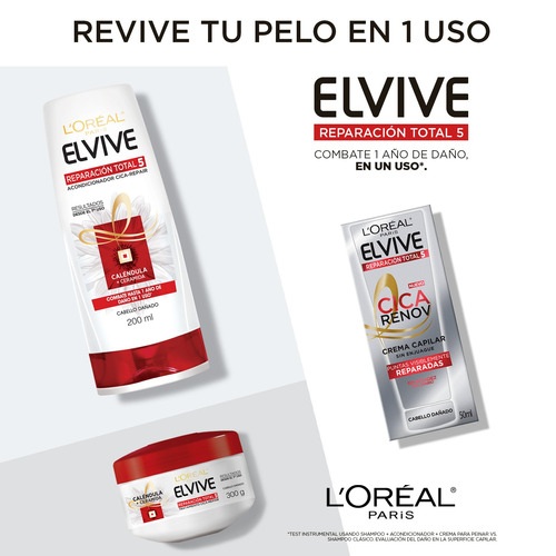 crema limpieza reparación total 5 elvive loreal paris 400 ml