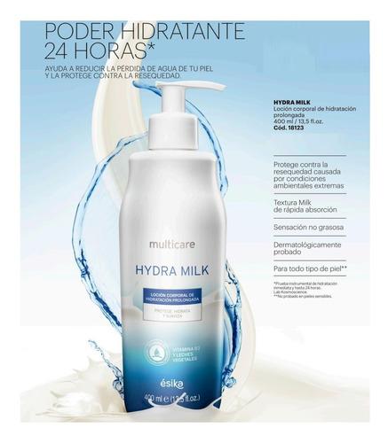 crema loción humecta cuerpo multicare hydra milk esika 400ml