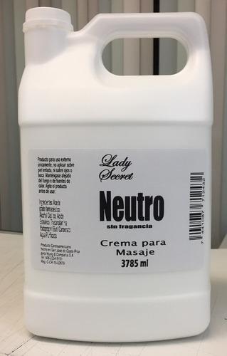 crema neutro para masaje profesional