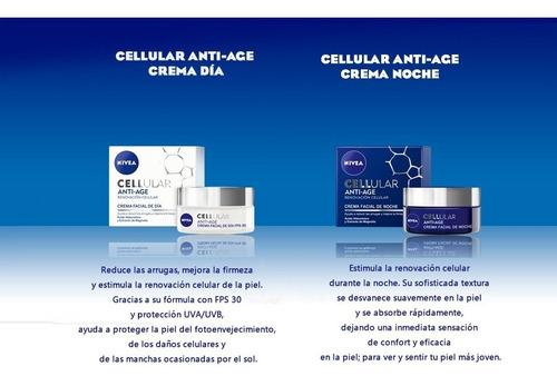 crema nivea cellular anti-age día + noche