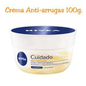 Crema Nivea Cuidado Facial Antiarrugas 100g. Original 100%