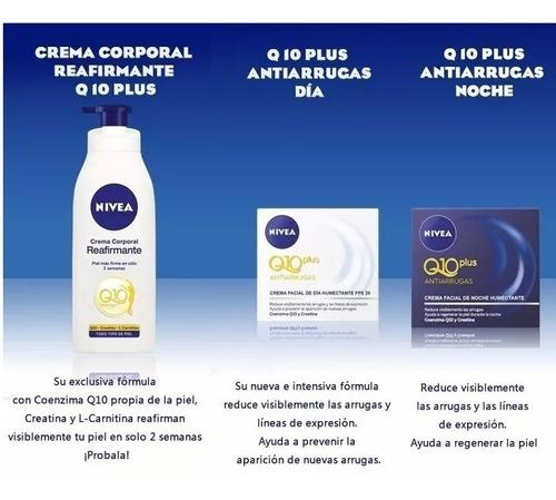 crema nivea q10 reafirmante + antiarrugas día y noche