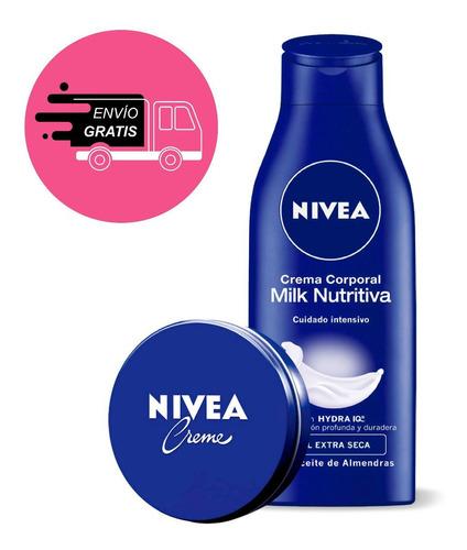 crema nivea soft milk piel extra seca 400ml + lata creme 150