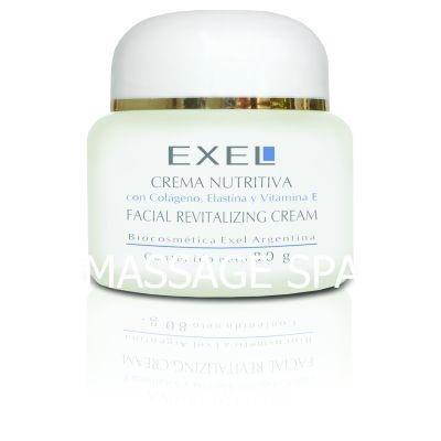 crema nutrtiva facial colageno elastina vitamina e exel
