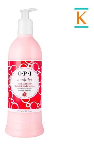 crema opi avo juice hidratante cuerpo manos frutilla 250