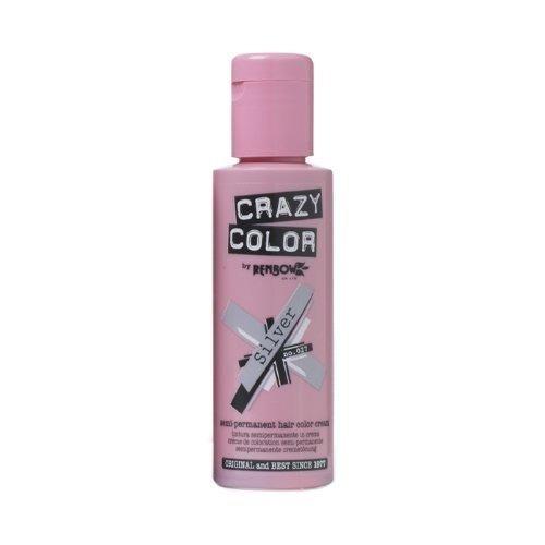crema para el cabello semipermanente, color plata no. 27