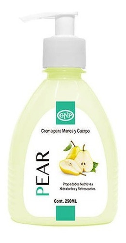 crema para manos y cuerpo gnp 290ml pear con valvula