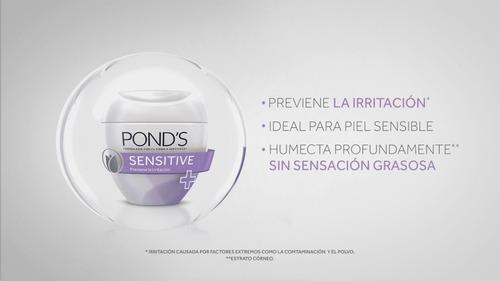 crema ponds sensitive hipoalergenica x 50 gr original