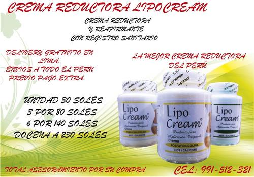 crema reductora lipo cream delivery gratuito r.s de peru