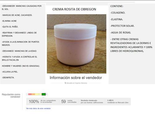crema rosita obregon