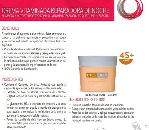 crema vitaminada reparadora de noche amway en promocion