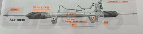 cremallera hidráulica toyota hilux 2005/2012 fotos reales