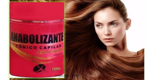 creme anabolizante com vitaminas para os cabelos yllen 500g