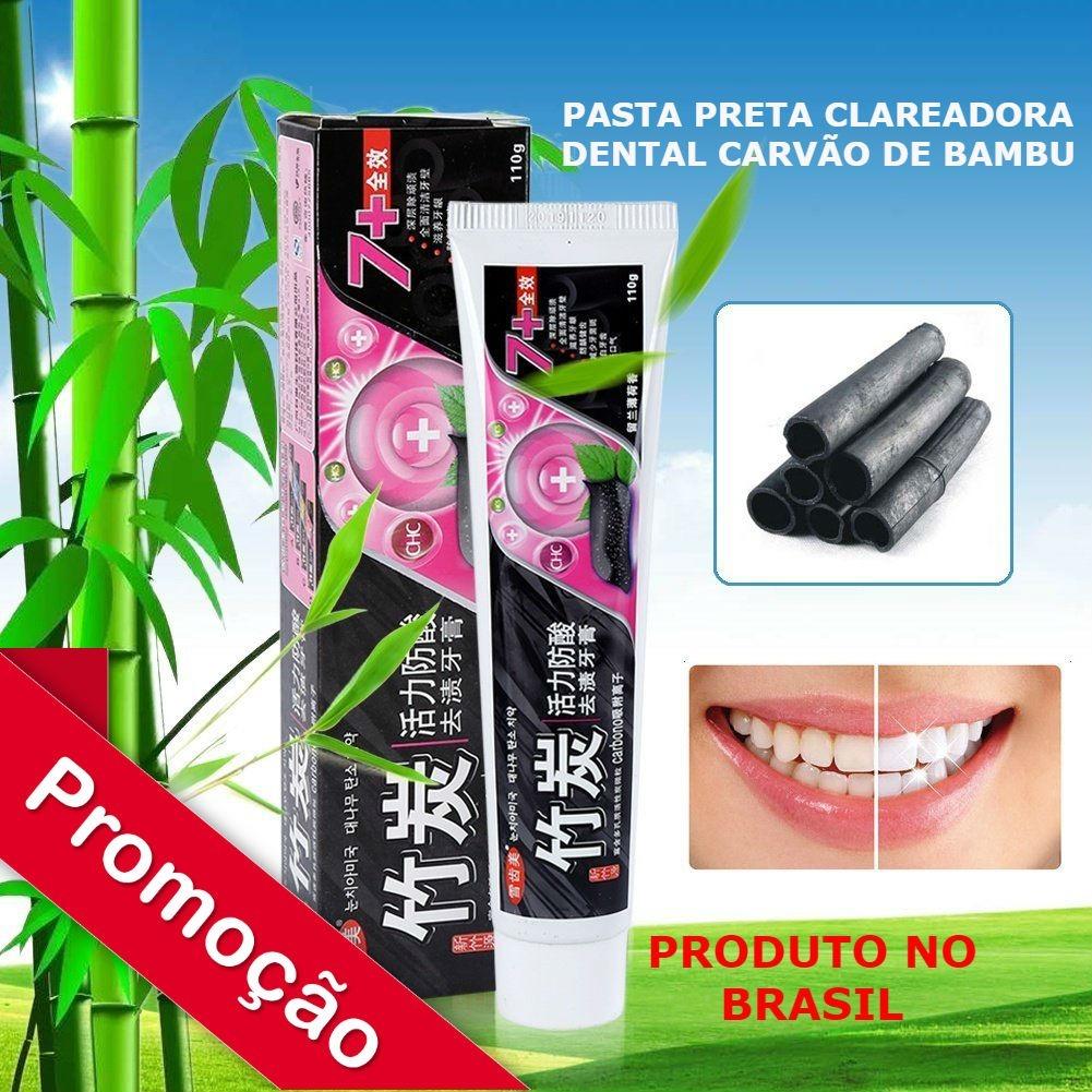 Creme Clareador Dental Carvao De Bambu Limpeza Profunda R 25 00
