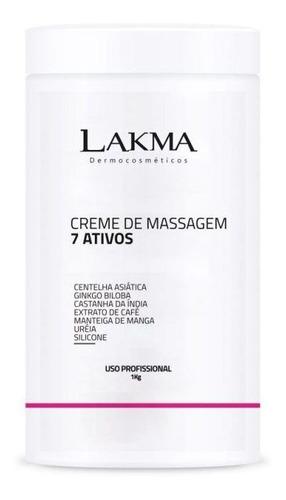 creme de massagem 7 ativos 1kg lakma - lakma dermocosméticos
