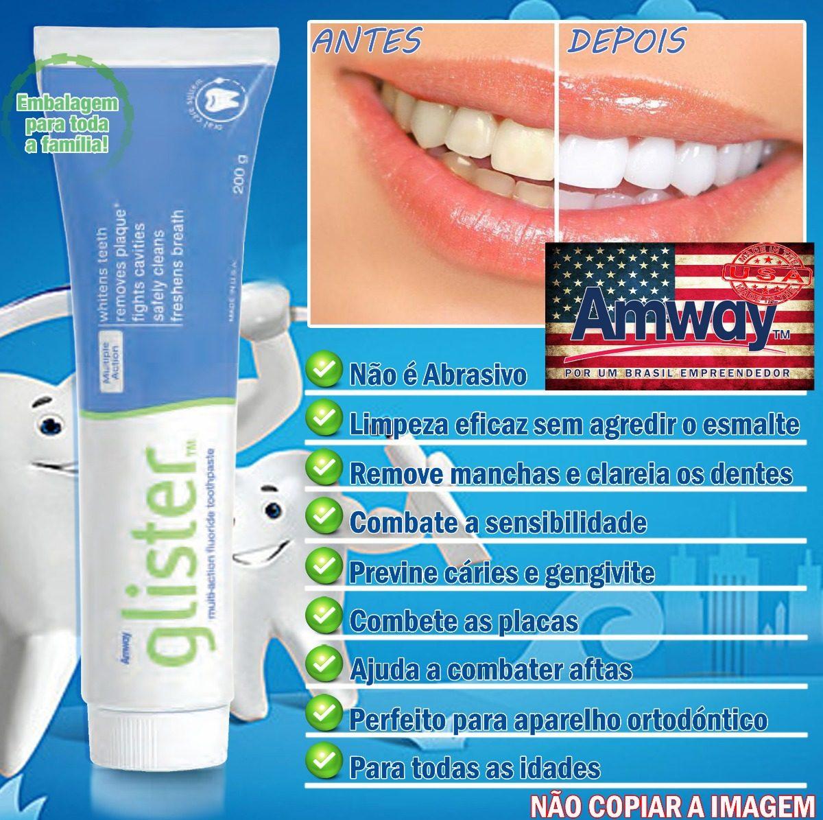Creme Dental 2 X Pasta De Dente Multiacao Glister 200g Amway R 52
