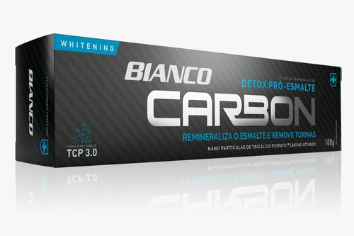 creme dental bianco carbon carvão ativado 100g - 3x1