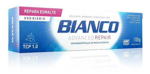 creme dental bianco repair 100gr + enxaguante bucal 500ml