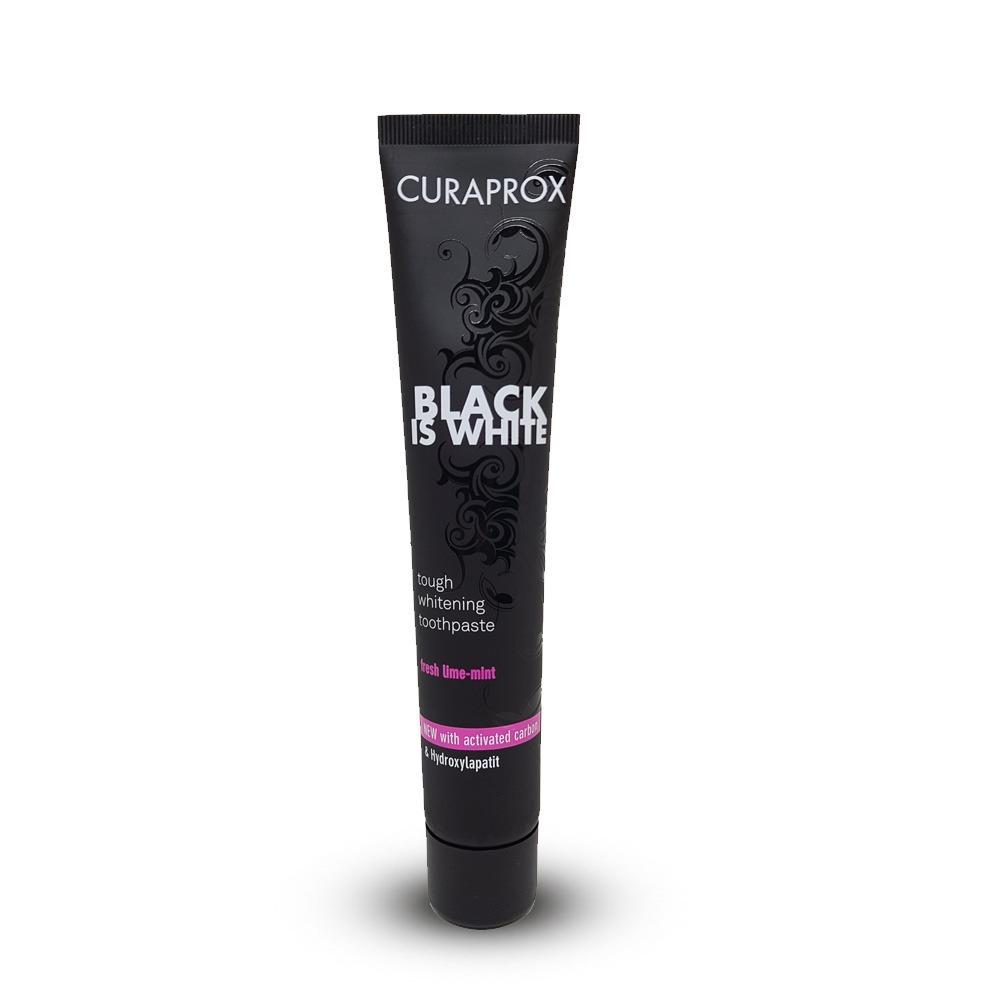 Creme Dental Clareador Carbono Ativo Curaprox Black Is White R