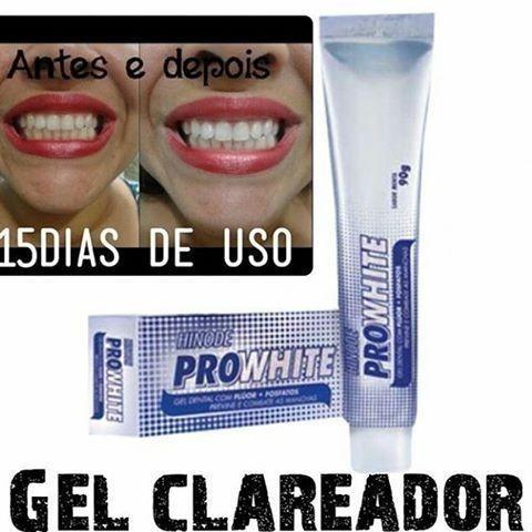 Creme Dental Clareador Pro White Hinode R 12 00 Em Mercado Livre