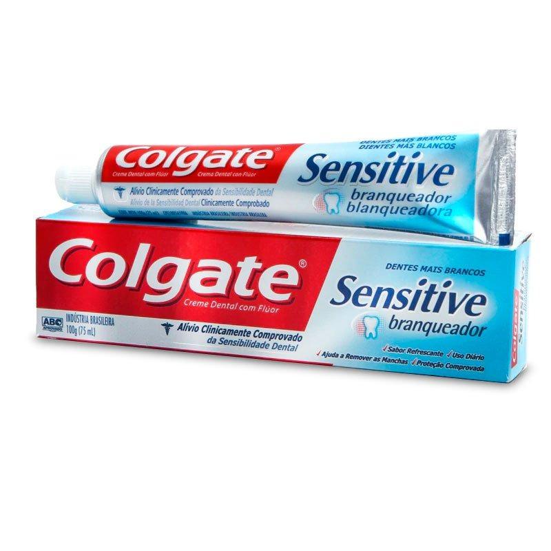 Creme Dental Colgate Sensitive Branqueador 100g R 19 99 Em