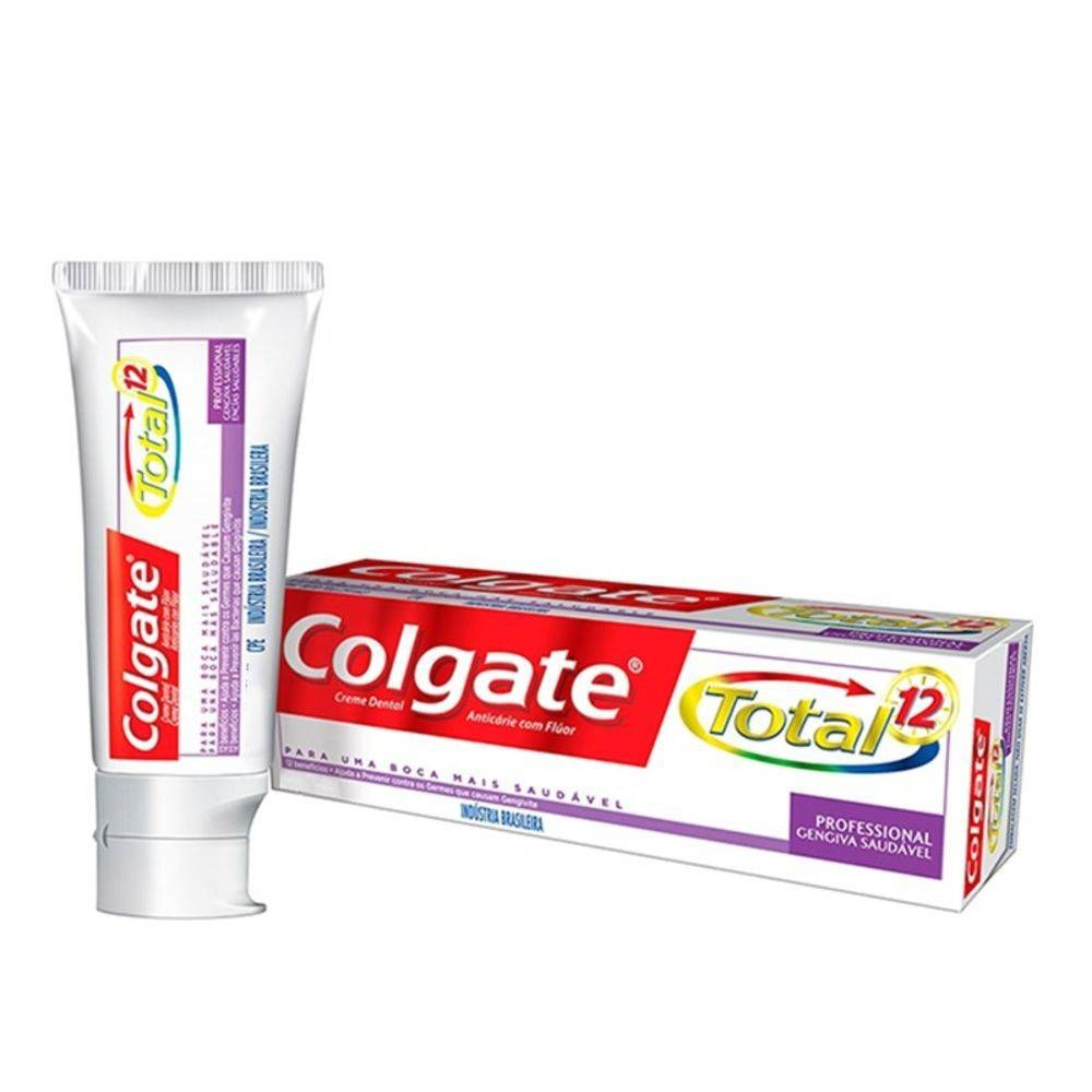 3a85317e3 creme dental colgate total 12 gum health 140g. 2 Fotos