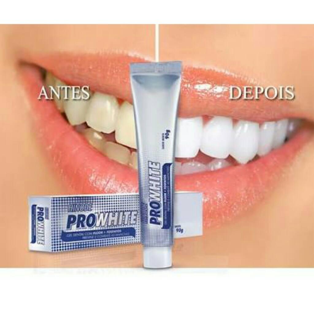 Creme Dental Gel Clareador Branqueador Pro White Hinode Top R 8