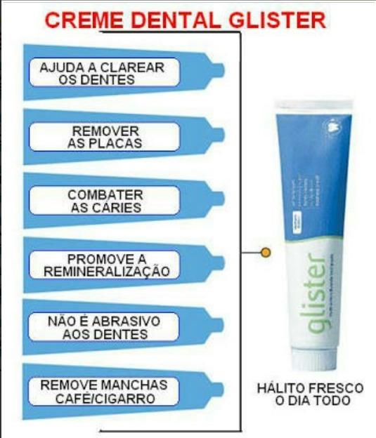 Creme Dental Glister Amway Clareador Dental Promocao R 29 48