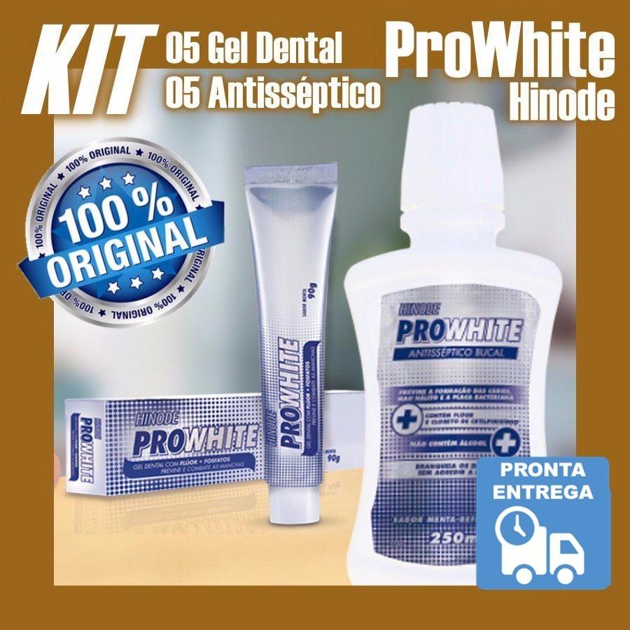 Creme Dental Pasta Clareadora E Enxaguatorio Pro White Kit R 160