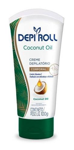 creme depilatório corporal depi-roll óleo coco 100g