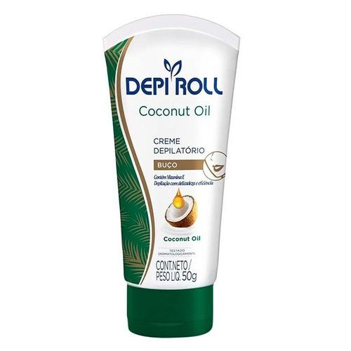 creme depilatório para buço depi-roll óleo coco 50g