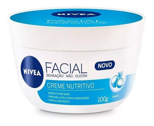 creme facial nivea cuidado nutritivo 100g