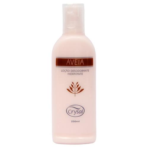creme hidratante corporal perfume de aveia 250 ml crysal