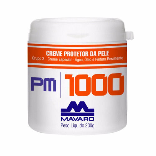 creme protetor da pele 200gr pm 1000 - mavaro