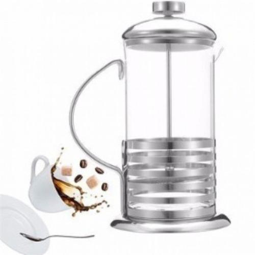 cremeira cafeteira francesa 600ml em vidro inox luxo prensa