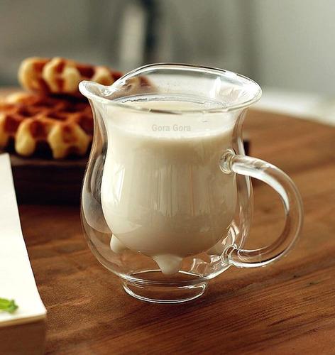 cremera lecherita vaca / vidrio carton de leche gora gora