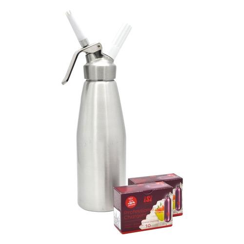 cremera sifon para crema 0.5 lt + 20 capsulas n2o