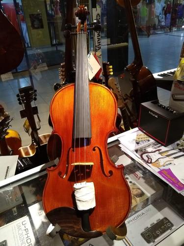 cremona violin 4/4 pino solido con estuche rigido sv-588